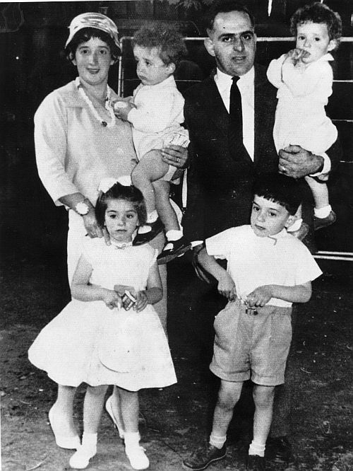 Jack and Marika Bisas with their children